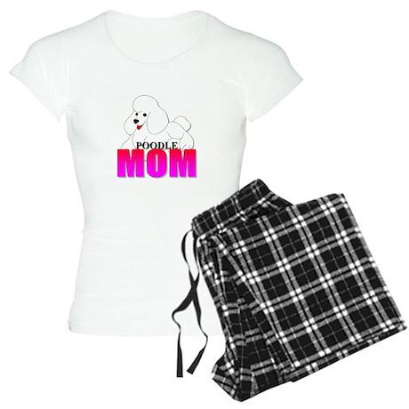White Poodle Mom Women's Light Pajamas