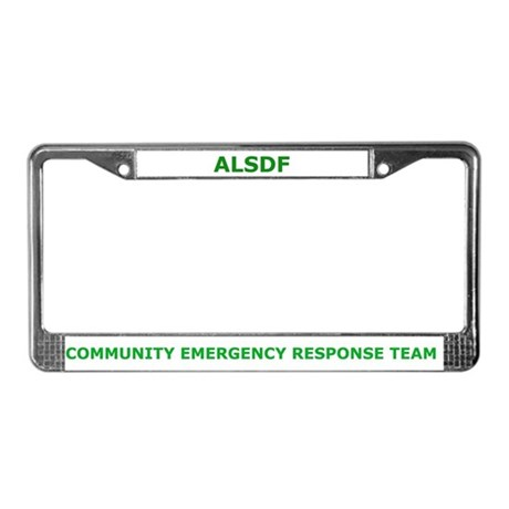 Alabama State Defense Force License Plate Frame