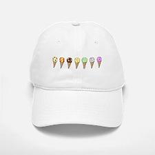 Lots of Ice Cream Baseball Baseball Cap
