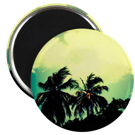 retro palms Magnet