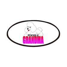 White Poodle Grandma Patches