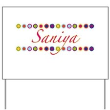Saniya with Flowers Yard Sign