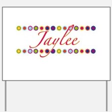Jaylee with Flowers Yard Sign