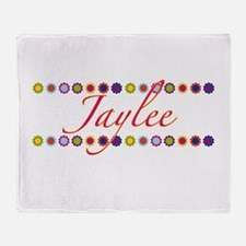 Jaylee with Flowers Throw Blanket