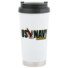 Navy Sister Travel Mug