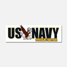 Navy Sister Car Magnet 10 x 3