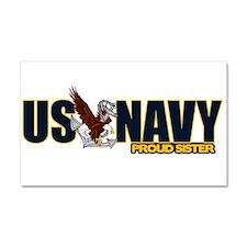 Navy Sister Car Magnet 20 x 12