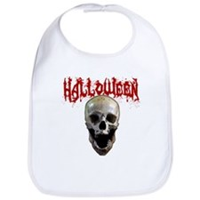 Funny Halloween skull Bib