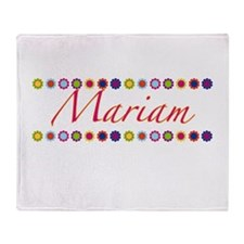 Mariam with Flowers Throw Blanket