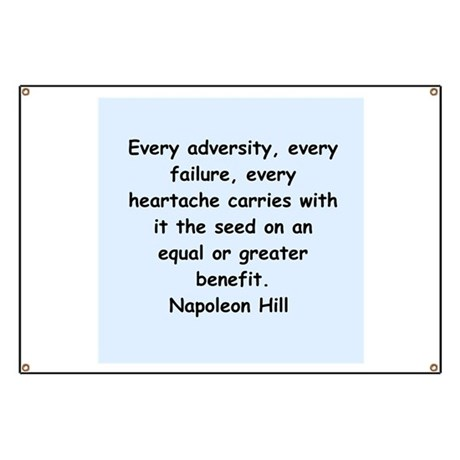 Napolean Hill quotes Banner
