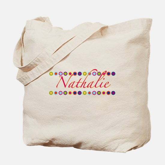 Nathalie with Flowers Tote Bag