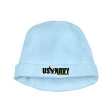 Navy Sister baby hat