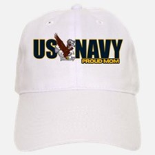 Navy Mom Baseball Baseball Cap