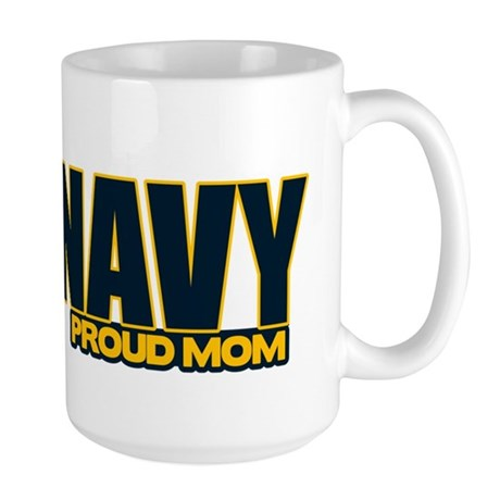 Navy Mom Large Mug