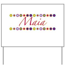 Maia with Flowers Yard Sign