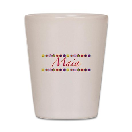 Maia with Flowers Shot Glass