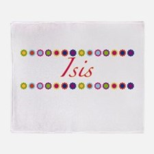 Isis with Flowers Throw Blanket