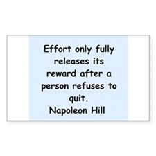 Napolean Hill quotes Decal