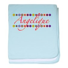 Angelique with Flowers baby blanket