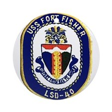 USS Fort Fisher LSD 40 Ornament (Round)