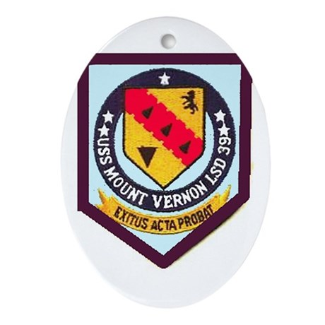 USS Mt. Vernon LSD 39 Oval Ornament