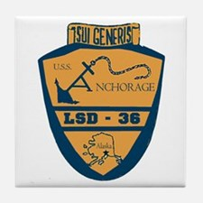 USS Anchorage LSD 36 Tile Coaster
