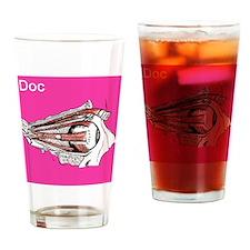 iDoc Magenta Drinking Glass