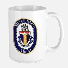 USS Fort Fisher LSD 40 Large Mug