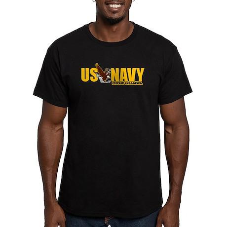 Navy Grandpa Men's Fitted T-Shirt (dark)