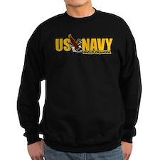 Navy Grandpa Jumper Sweater