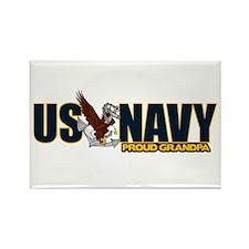 Navy Grandpa Rectangle Magnet