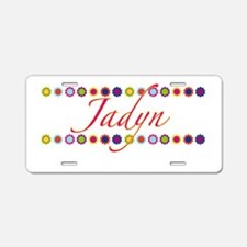 Jadyn with Flowers Aluminum License Plate