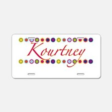 Kourtney with Flowers Aluminum License Plate
