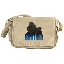 Black Poodle Brother Messenger Bag