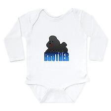 Black Poodle Brother Long Sleeve Infant Bodysuit