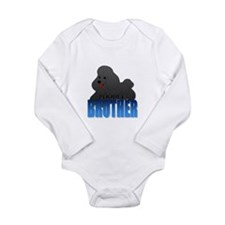 Black Poodle Brother Onesie Romper Suit