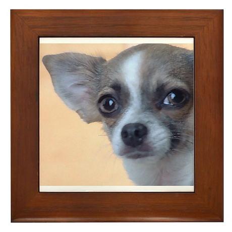 Artsy Dog Framed Tile
