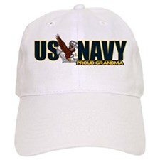 Navy Grandma Baseball Baseball Cap