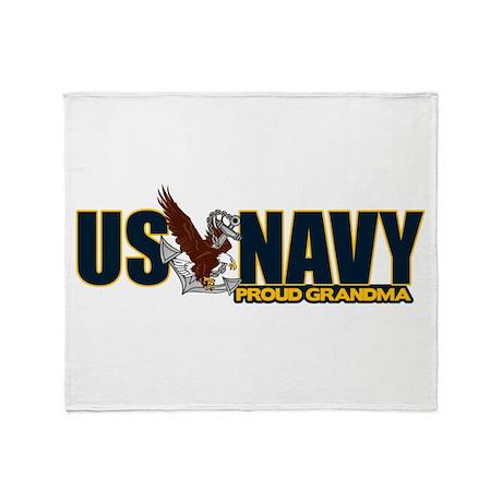 Navy Grandma Throw Blanket