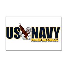 Navy Grandma Car Magnet 20 x 12