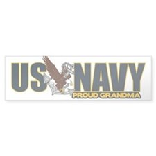 Navy Grandma Bumper Sticker