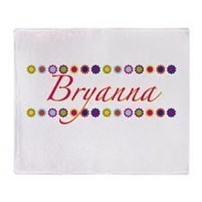 Bryanna with Flowers Throw Blanket
