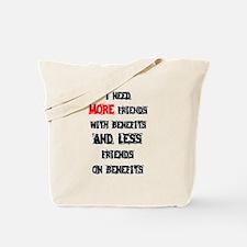 Unique Friends benefits Tote Bag