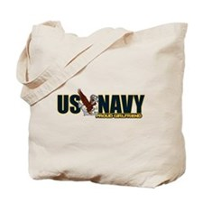 Navy Girlfriend Tote Bag