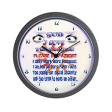 God-I Love This Place.... Wall Clock