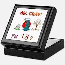 AW, CRAP! I'M 18? Gift Keepsake Box