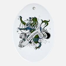 Ferguson Tartan Lion Ornament (Oval)