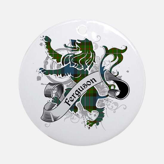 Ferguson Tartan Lion Ornament (Round)