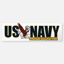 Navy Daughter Sticker (Bumper)