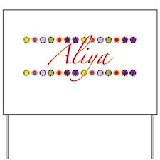 Aliya with Flowers Yard Sign